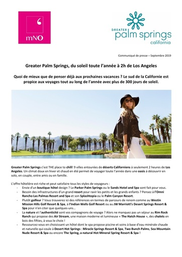 02 Greater Palm Springs Sept 19 300 jours de soleil