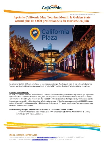 07   Visit California   Mai 19   IPW